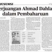 Perjuangan Ahmad Dahlan dalam Pembaharuan (resensi Jejak Sang Pencerah)